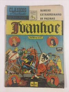 SPANISH COMICS CLASICOS ILUSTRADOS #137 IVANHOE EXTRAORDINARIO LA PRENSA MEXICO