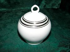 Royal Doulton Royal Platinum Sugar Bowl w/Lid White Platinum Band & Trim