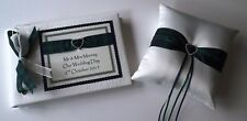 Personalised Tartan Guest Book and Ring Cushion