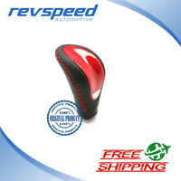 Genuine MOMO Combat EVO Red Gear Shift Knob Black Leather Red Stitching NEW
