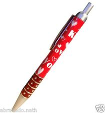 1 STYLO A BILLE LOVE YOU KISS COEUR ROUGE SCOLAIRE