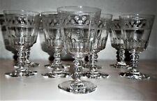 H:15 cm:Baccarat gravure 4770 étoile:Lot de 9 grands verres à eau:Etat superbe