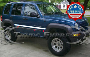 """fit:2002-2007 Jeep Liberty Stainless Rocker Panel Trim Body Side Molding 2"""""""
