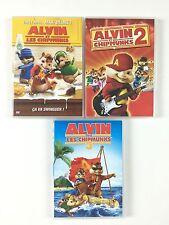 Coffret Lot 3 DVD Alvin et les Chipmunks 1 + 2 + 3 / La Trilogie