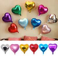 5Stk Bunte Liebe Herz Folie Helium Ballons Hochzeit Party Geburtstagsfeier Y5D7