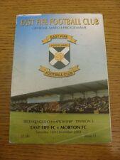 14/12/2002 East Fife v Greenock Morton  (Creased/Worn).  Thanks for taking the t