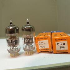 matched pair Siemens CCA E88CC silver shield A6 Codes NOS Röhre Tube ROE-test 04