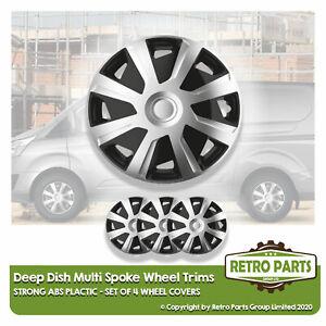 Set of 4 Wheel Trims inch Rivets Fiat Fiorino 08- r 15