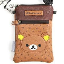 San-X Rilakkuma Pochette Shoulder Bag for DS Cell phone Case Brown Japan F/S NEW