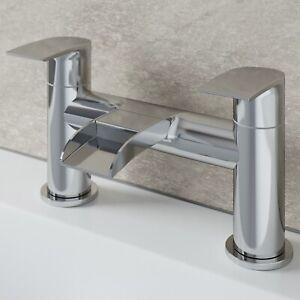 Waterfall Bathroom Bath Mixer Tap Brass Lever Handle Deck Mounted Chrome Modern
