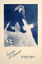 Original Vintage Ski Poster Gerber Bros. Seattle by Orville Borgersen c1955 PNW