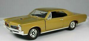VINTAGE ERTL 1/18 SCALE DIE-CAST 1966 PONTIAC GTO 389 V8 GOLD MUSCLE CAR  #0528U