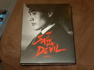"BRAND NEW ""I SAW THE DEVIL"" PLAIN ARCHIVE BLU-RAY STEELBOOK OOP/1,200 FULL SLIP"
