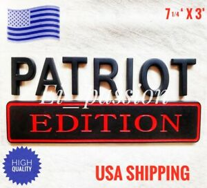 PATRIOT EDITION Black Universal Truck logo EMBLEM Gift Idea xmas Christmas