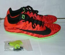 Nike Zoom Men Racing Sprint Cleats & Spikes Orange & Green Shoes Size 12 1/2 New
