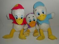 Vintage 80s Disney Ducktales Huey Dewey Plush Toy Dolls Lot