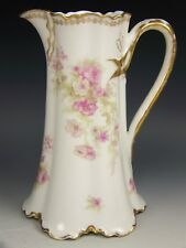 LIMOGES HAVILAND PINK ROSES FLOWERS BLANK 1 CHOCOLATE POT - NO LID