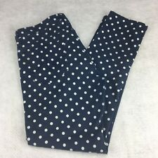 AG Adriano Goldschmied Jeans the Stevie Ankle Slim Straight Leg 27R Polka Dots