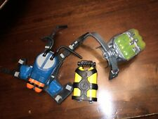ACTION MAN BODY ARMOUR ,TANK ,BACKPACK,RUBBER WEBBING X 3