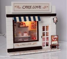 New DIY Doll House Room Simulation Cake Shop Miniatures LED Furniture Kit Light