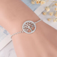 Charm Elegant Tree of Life Bracelet Chain Gold/Silver Women Jewelry Link Chain