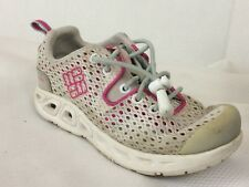 Columbia Drainmaker II Girls 10 Toddler White Pink Omni-Grip Water Shoes Mesh