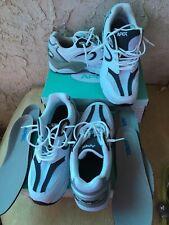 Lot Of 2 ~ Apex Men's White/Navy Blue Sneaker Size 9.5 Wide (#X521 M)