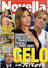 Novella.Barbara Berlusconi,Raffaella Carrà,Giorgio Pasotti,Naomi Campbell,iii