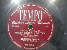 Brother Bones 'Margie / Sweet Georgia Brown' 78