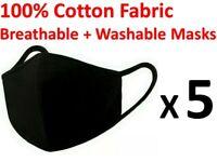 Washable Black Face Mask Unisex Mouth Cover Fashion Reusable Masks SYD STOCKS