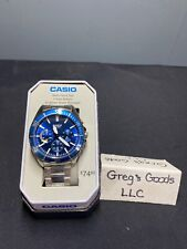Casio Men's Quartz Dive Blue Chronograph Dial Silver-Tone 43Mm Watch Mtd320d-2AV