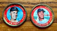 1971 Topps COINS #12 Jim Perry and #52 Cesar Tovar - Twins