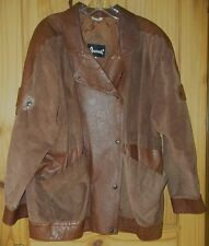 Avanti Vintage Brown Leather Coat w/ Wonderful Features, Womens L