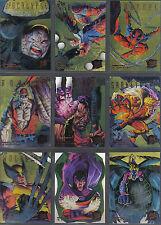 X Men Fleer Ultra 95 Conjunto de 9 cazadores de oro y feroces