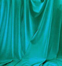 TEAL  ITY Stretch Jersey Knit Interlock Fabric Wringle Resist Smooth Fluid Drape