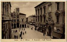 1916 Padova - Via 8 Febbraio, R. Università e Cafè Pedrocchi - FP B/N VG ANIM