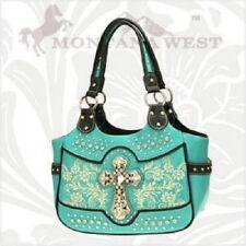 Montana West Spiritual Cross Stylish Fashion Leather Handbag Purse BTF-8110 TQ