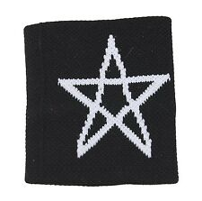 Cotton Cuff Fabric Stretch Star Satanica Pentacle Wristband