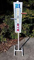 """Cornhole Scoreboard W 42"""" Stand Score Keeper Sign - Lake Lighthouse Theme"""