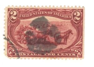 Scott 286 Early US Stamp 2c Trans Mississippi... 1898... Fancy Cancel
