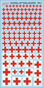 Red Cross Decals 2 (5,0-18,0 mm) 1/43 AMB1-2