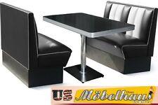HW-120-B Set American Dinerbank Sitzbank Diner Bänke Möbel 50´s Retro USA Style