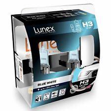 H3 Lunex Blue White 55W 12V Lampadine Fari Alogeni 3700K Set
