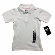 Lee School Girls Uniform White Polo Shirts 2-Pack of Size Xs (4/5) - Nwt