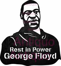 George floyd Rest In Power - Dxf Svg Files for Cnc Laser Cut Plasma T-chirt