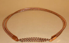 Mid Century Solid Copper Belt w/ Chain Front