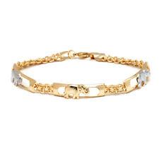Sevil 18k Two Tone Gold Plated Filigree Elephant Bracelet