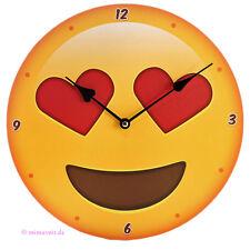 Wanduhr Bilderuhr Uhr Deko Emotive Herz Augen Emoji Emoties Emoty Smiley
