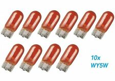 10x WY5W W2.1x9.5d T10 12V Amber Glühlampe Birne Soffitte Auto Lampe Glassockell