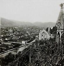 Graz Gratz Autriche Austria Photo Plaque stéréo parLachenal & Favre c 1865